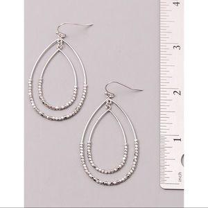 Teresa Teardrop Earrings- Silver
